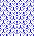 cute pattern blue and white vector image vector image