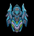 cyber robot mecha head vector image