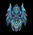 cyber robot mecha head vector image