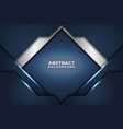 dark abstract background with dark blue overlap vector image vector image