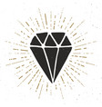diamond vintage label hand drawn sketch grunge vector image
