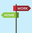 Directions to work home vector image vector image
