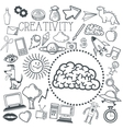 Doodle icon design creativity icon draw concept vector image vector image