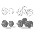 Dumbbells vector | Price: 1 Credit (USD $1)