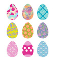 Easter eggs set Easter eggs on white background vector image vector image