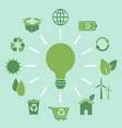 ecology concept idea in flat style vector image