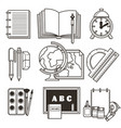education isolated icons school or college vector image
