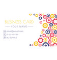 gears business card technology and innovation a vector image vector image