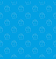 gift box pattern seamless blue vector image