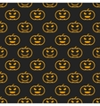 Halloween different linear seamless pattern with vector image