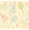 Hand drawn Ornamental Mermaid sea-horse and vector image