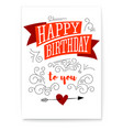 happy birthday design of text lettering vintage vector image vector image