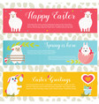 holiday bright easter banners vector image