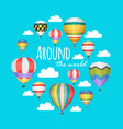 hot air balloon backgraund vector image