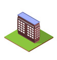 isometric building letter i form vector image