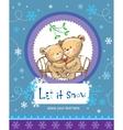 Let it snow vector image vector image