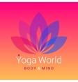 Lotus flower as symbol of yoga vector image vector image