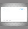 modern social media post template isolated on vector image vector image