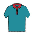 neck shirt isolated icon vector image vector image