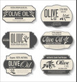 olive oil retro vintage labels collection 0125 vector image