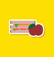 paper sticker on stylish background sandwich and vector image