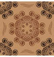 pattern in form of hexagons and swirling circles vector image vector image