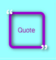 purple square paper frame with commas for your vector image vector image