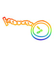 rainbow gradient line drawing cartoon pocket watch vector image vector image
