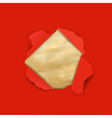 Red Torn With Old Paper vector image vector image