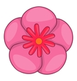 Rose of Sharon korean flower icon cartoon style vector image vector image