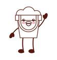 sand bucket beach toy kawaii character vector image vector image