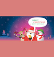santa claus and friends use smartphone online vector image vector image