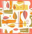 seamless mid century modern autumn pattern vector image vector image