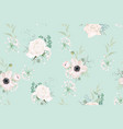 seamless pattern floral watercolor style vector image vector image