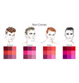 set palettes with red colors vector image vector image