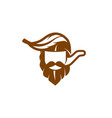 simple and flat captain and tobacco pipe icon vector image