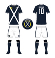 Soccer kit football jersey template for Scotland vector image vector image