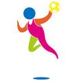 Sport icon for handball in color vector image vector image