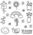 spring item doodle vector image vector image