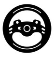 steering wheel icon simple black style vector image vector image