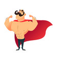 strong cartoon funny superhero power super hero vector image