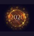 stylish happy new year golden sparkles light vector image