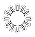 sun climate sign icon vector image