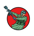 symbol kick gun butt soldiers at war vector image vector image