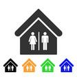 toilet building icon vector image