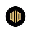 uid letter logo template hexagonal letter vector image vector image