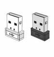 usb dongle vector image vector image