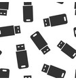 usb drive icon seamless pattern background flash vector image