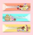 wedding cake banners vector image vector image