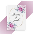 wedding card design with floral decoration vector image vector image